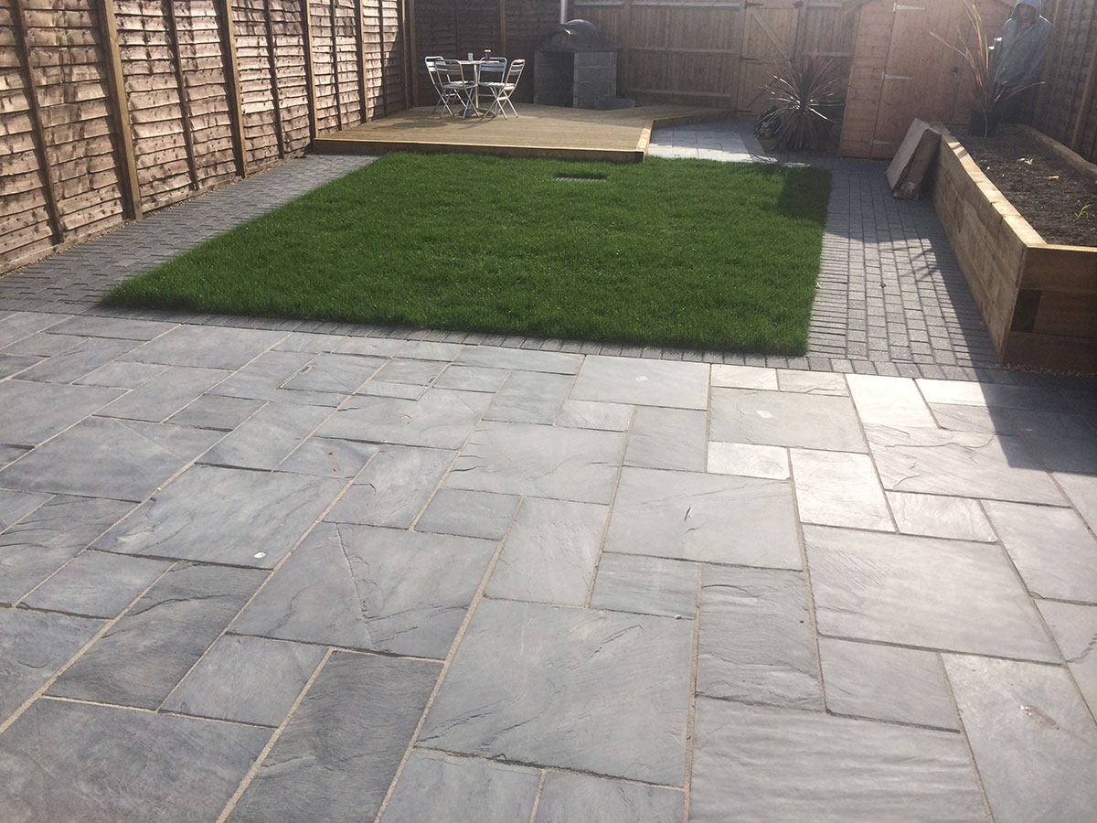 Slate Patio installation