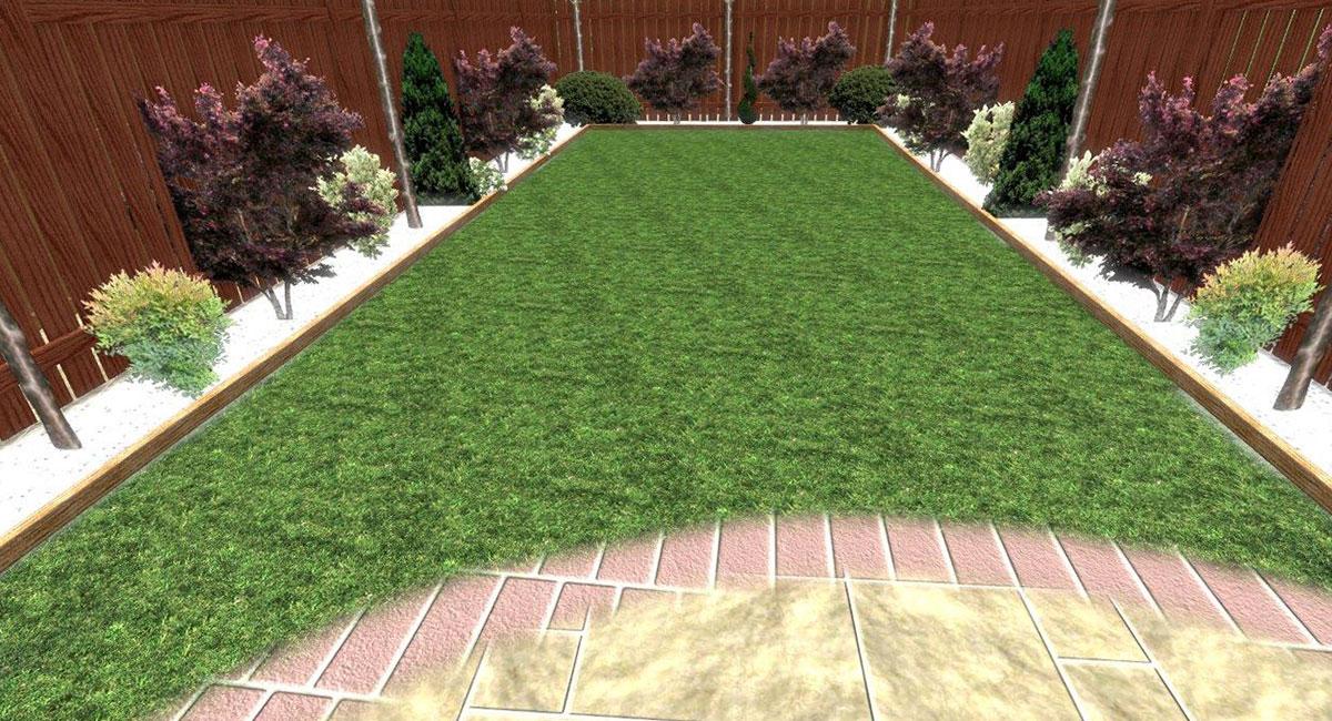 Rear garden, fencing and patio design