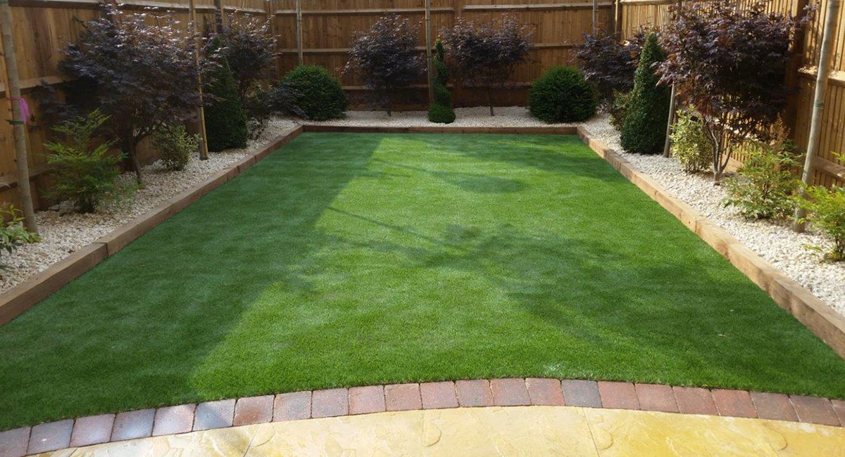 Rear garden, fencing and patio design