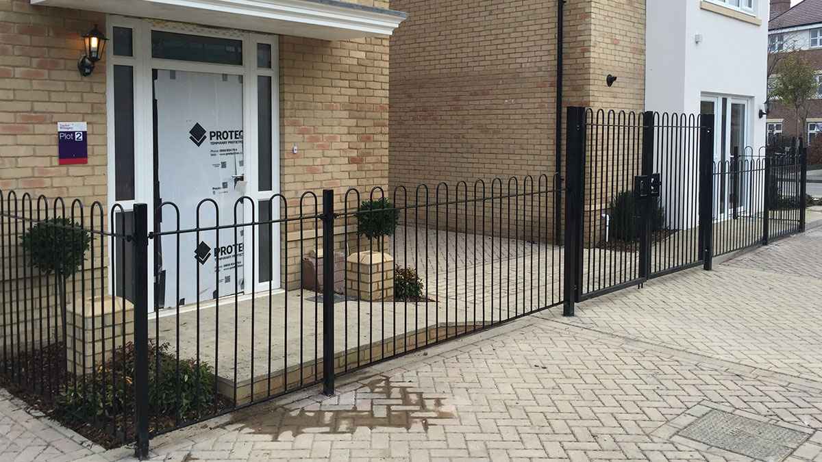 Metal railings for show homes