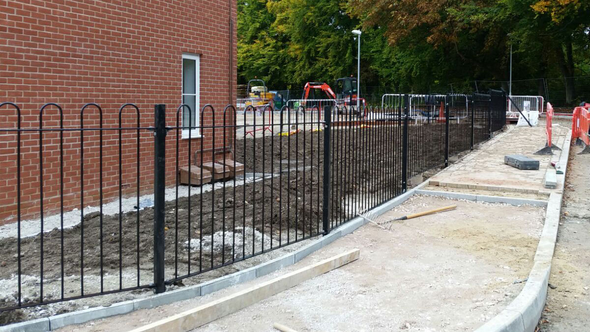 Metal railing construction for new home developments