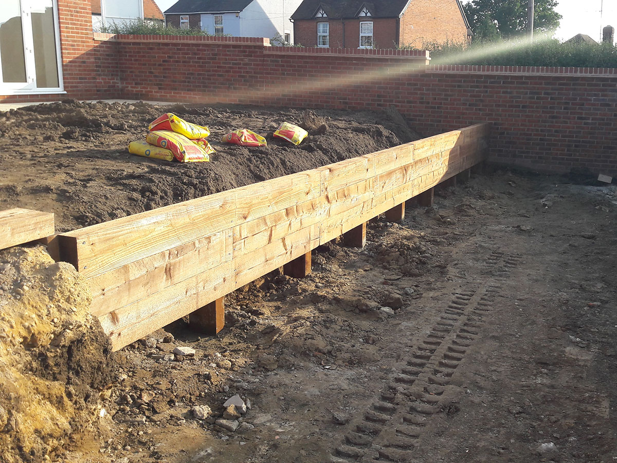 Retaining for sloped back garden