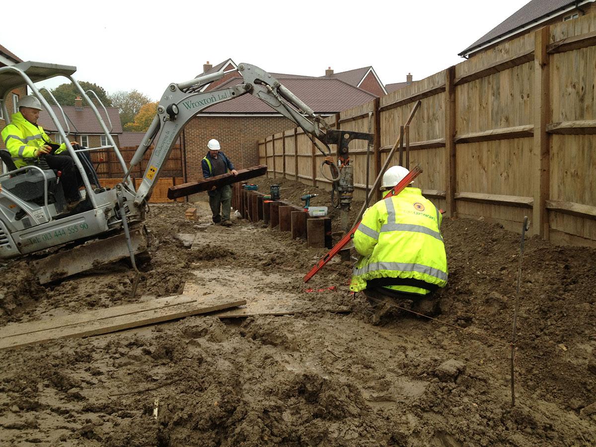 Retaining on new build property