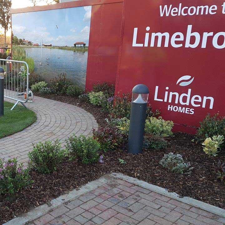Sales suite for Linden Homes at Limebrook development, Maldon, Eastern Region, winter 2017.